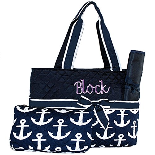 Personalized Anchor Quilted Infant Diaper product image