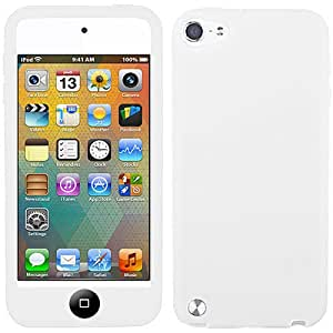 White Black Button Silicon Soft Rubber Skin Case Cover For Apple iPod Touch iTouch 5, 6 with Free Pouch