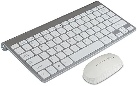 High Quality Ultra thin White 2.4G Cordless Wireless Keyboard and optical Mouse