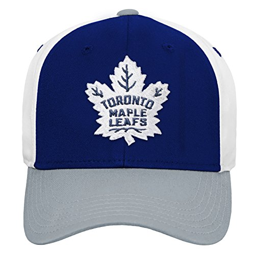 Outerstuff NHL NHL Toronto Maple Leafs Youth Boys Colorblock Structured Adjustable Hat, Leafs Blue, Youth One Size ()