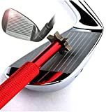 Golf Club Groove Sharpener with 6 Heads - Ideal for Optimal Backspin and Ball Control - Perfect Tool for Wedges and Utility Clubs - Red