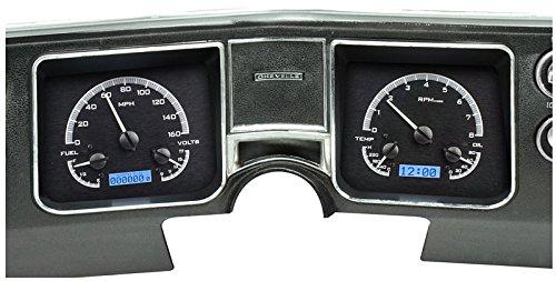 Dakota Digital 68 Chevy Chevelle El Camino Analog Dash Gauges Black Alloy Blue VHX-68C-CVL-K-B (Camino El Dash)