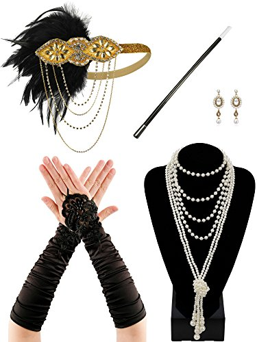 Zivyes 1920s Accessories Flapper Costume for Women Headpiece