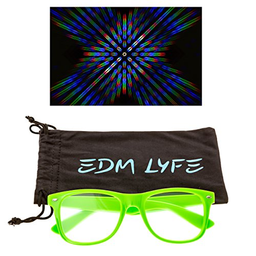 [Rave Diffraction Glasses by EDM LYFE - Premium Prism Kaleidoscope Style Sunglasses - Great for Festivals and Concerts] (Labor Day Parade Costumes For Sale)