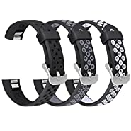 For Fitbit Alta HR/Alta Bands, SKYLET Silicone Breathable Wristbands for Fitbit Alta and Fitbit Alta HR Bracelet (No Tracker)