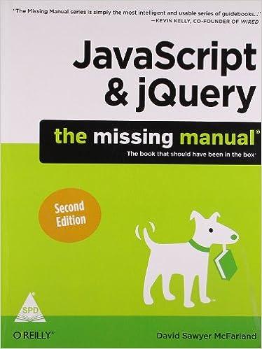 JavaScript and jQuery 2nd Edition The missing Manual 2nd Edition price comparison at Flipkart, Amazon, Crossword, Uread, Bookadda, Landmark, Homeshop18