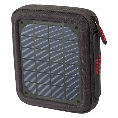 Voltaic Systems - Amp USB Portable Solar Charger with Emergency Backup Battery Pack | Powers Phones, Tablets, & More | Waterproof and UV Resistant Panels - Charcoal