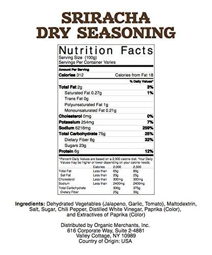 Natural Traders Sriracha Dry Seasoning - 1lb Bag - Kosher, Non Gmo, Gluten Free