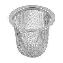 Stainless Steel 55mmx50mm Wire Mesh Round Filter Spice Tea Strainer Basket