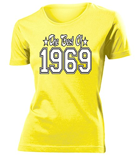 THE BEST OF 1969 - DELUXE - Birthday mujer camiseta Tamaño S to XXL varios colores Amarillo