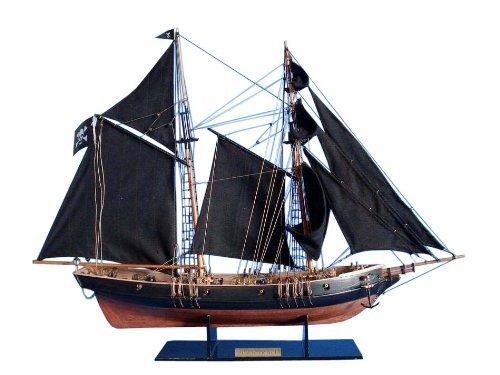 Black Sailboat (Hampton Nautical  Ben Franklin's Black Prince Sailboat, Limited Edition, 24