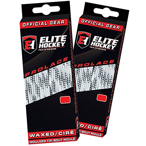 Elite Hockey Prolace Waxed Hockey Laces -- SET of 2 Pairs (White, 120
