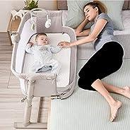 Kidsclub - Mesita de noche 2 en 1 para bebé con altura ajustable