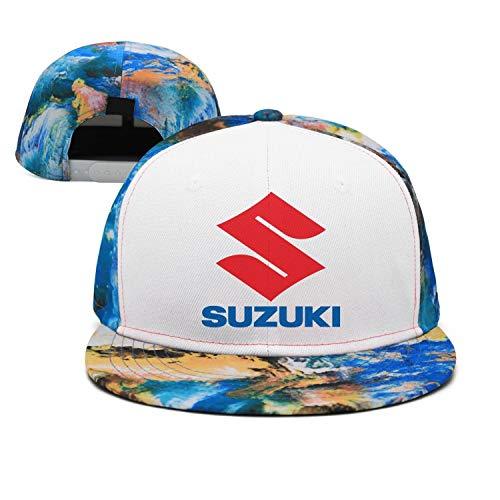 NIDHBD Fashion Suzuki-Logo-Japan- Blue Hip-hop Hats Womens Mens