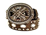 3D Belt Belt style 960 Brown with Clear Stones