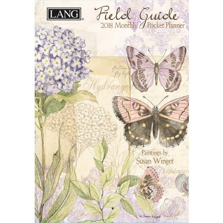"LANG - 2018 Monthly Pocket Planner - ""Field Guide"" - Artwork By Susan Winget - 13 Month - January to January - Portable 4.5"" x 6.5"""