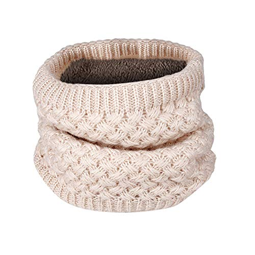 er Warm Knit Cowl Neck Scarf Solid Patchwork Ring Shawl ()