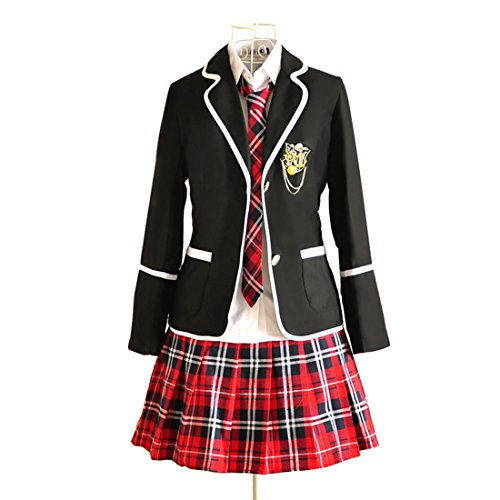 Uniform Anime School Costumes (URSFUR Womens British Style Japan School Uniform Sets Cosplay Costume Anime)