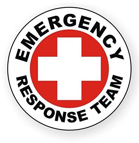 1-Pcs Paramount Popular Emergency Response Team Vinyl Stickers Sign Rescue Crew Safety Stick Decor Badge Size 2