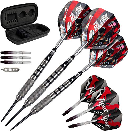 Viper Blitz 95% Tungsten Steel Tip Darts with Storage/Travel Case, 24 Grams