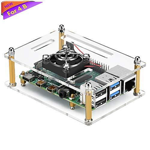 - iUniker Raspberry Pi 4b Case, Raspberry Pi Case with Fan Raspberry Pi Fan Case for Raspberry Pi 4 Model B/Pi 3B+/ Pi 3B/ 2B