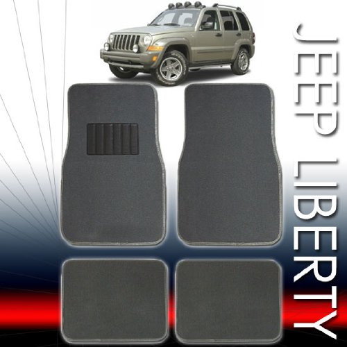 QUALITY UNIVERSAL CARPET CAR FLOOR MATS SET FOR JEEP LIBERTY WITH BONUS AIR FRESHENER