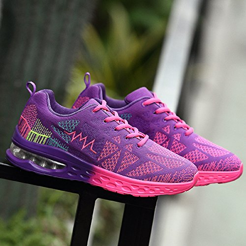 Cushion Aire Púrpura Sport Shoes Air al Zapatos Deportes Lightweight Libre Fitness Running Unisexo wg8TqT