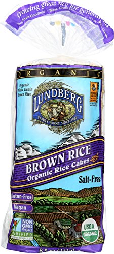 Lundberg Family Farms Organic Brown Rice Cakes, Salt-Free, 8.5 Ounce (Pack of 12) ()