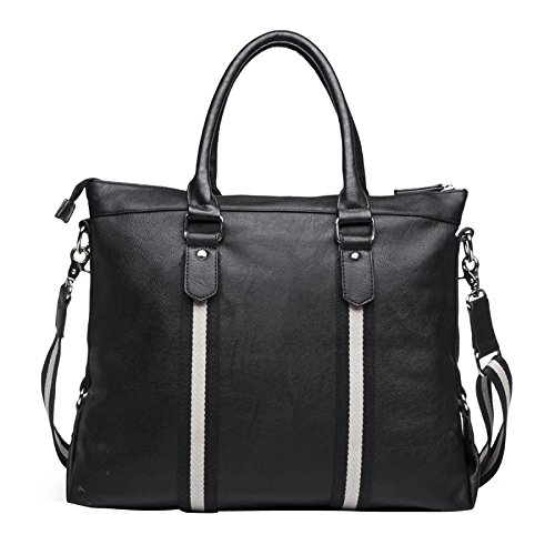 BAILIANG Cuir 14 Pouces Messager En Cuir Serviette Messenger Sac Besace Satchel Messenger Bag Black