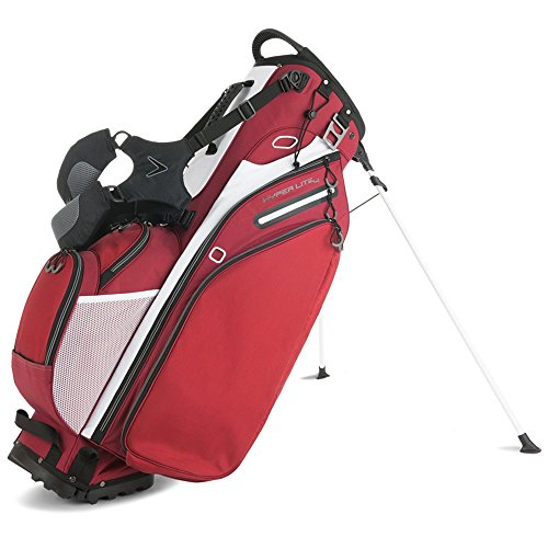 Callaway 2016 Hyper-Lite 4 Double Strap Stand Bag, Red/White/Black