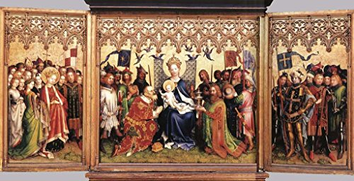 Lochner Stephan Altarpiece of the Patron Saints of Cologne 100% Hand Painted Replica Oil Paintings 24X36 Inch