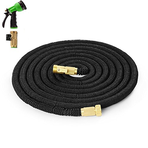Expandable Garden Hose 25 Ft With 8 Pattern Spray Nozzle 3/4 US Standard (25 Ft)