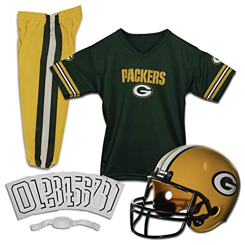 Franklin Sports Deluxe NFL-Style Youth Uniform - NFL Kids Helmet, Jersey, Pants, Chinstrap and Iron on Numbers Included - Football Costume for Boys and