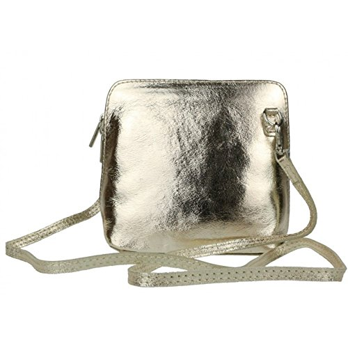 Light Gold Cross Vera Genuine Bag Body Mini Leather Pelle Italian Bag or Shoulder B17n16Pg