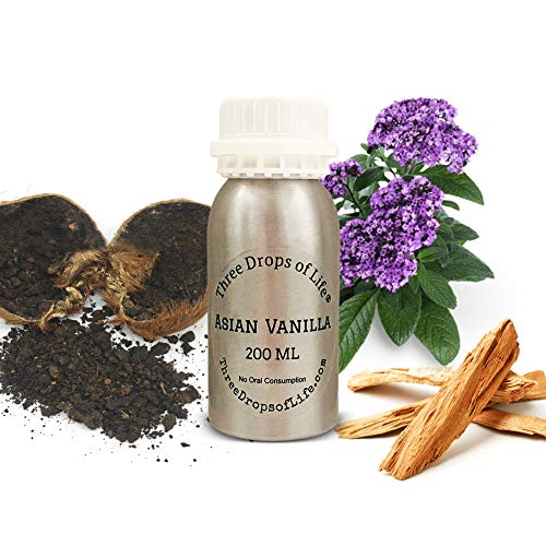 Popular Scents - Aromatherapy Scented Fragrance Essential Oil for Diffusers, Best for Atomizing Cold Air Machines, Most Popular Scents for The Home or Office (Asian Vanilla, 200ML)