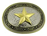 Longhorn Steer Texas Flag New Western Belt Buckle