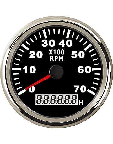 Cikuso Calibro del tachimetro Tachometer con la Tazza del Supporto per Auto Car 2 Pollice 52mm 0~8000RPM LED Blu