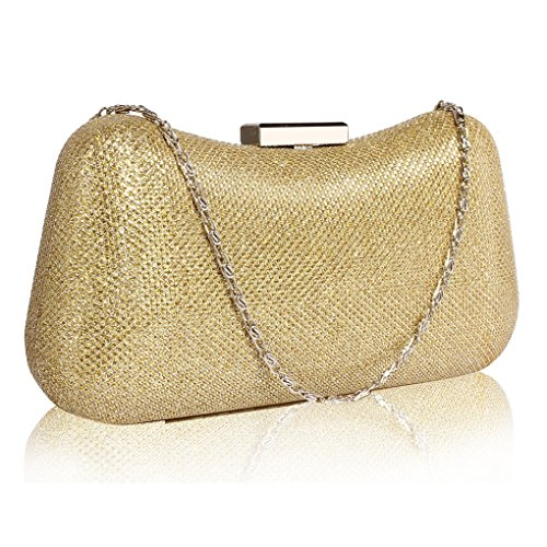 LeahWard Gold Women's Night Out Purse Bag For Pary Sparkly Prom Evening Clutch CWE00286 fgZfqa