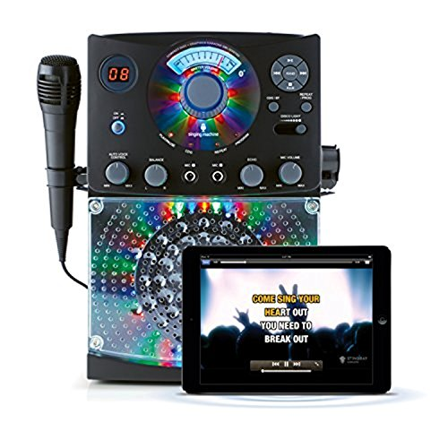 Bundle Includes 2 Items - Singing Machine SML385BTBK Top Loading CDG Karaoke System with Bluetooth, Sound and Disco Light Show (Black) and Singing Machine SMM-205 Unidirectional Dynamic Microphone by Singing Machine and Singing Machine (Image #4)