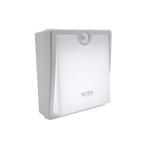 GEREE Luz nocturna LED con sensor de movimiento inalámbrico recargable USB-En cualquier lugar para