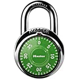 Master Lock 1505D Locker Lock Combination Padlock 1 Pack, Assorted Colors