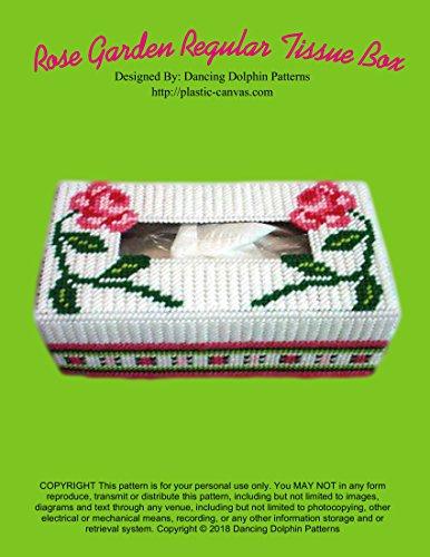 (Rose Garden Regular Tissue Box Cover: Plastic Canvas Pattern)
