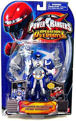 Power Rangers Operation Overdrive 5Inch Power Ranger Action Figures Mission Response bluee Power Ranger