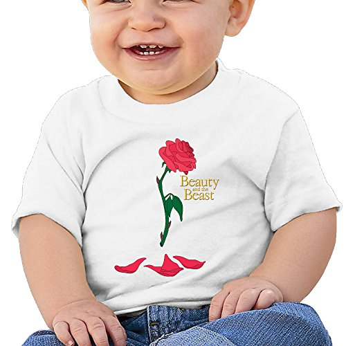 Price comparison product image Boss-Seller Beauty And The Beast Short-Sleeve Tee For 6-24 Months Toddler Size 6 M White