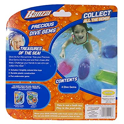 Swimming Pool Diving Toys Colorful Gems, 4 in a Pack, Ages 3+: Toys & Games