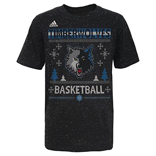 - Outerstuff NBA Minnesota Timberwolves Youth Boys Fleck Short Sleeve Tee, Large (14-16), Capital Blue