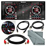 Numark Mixtrack Platinum DJ Controller with Jog Wheel Display and Assorted Cables Accessory