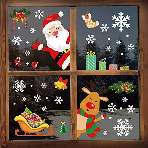 🥇 YILEEY Pegatinas De Navidad Ventana
