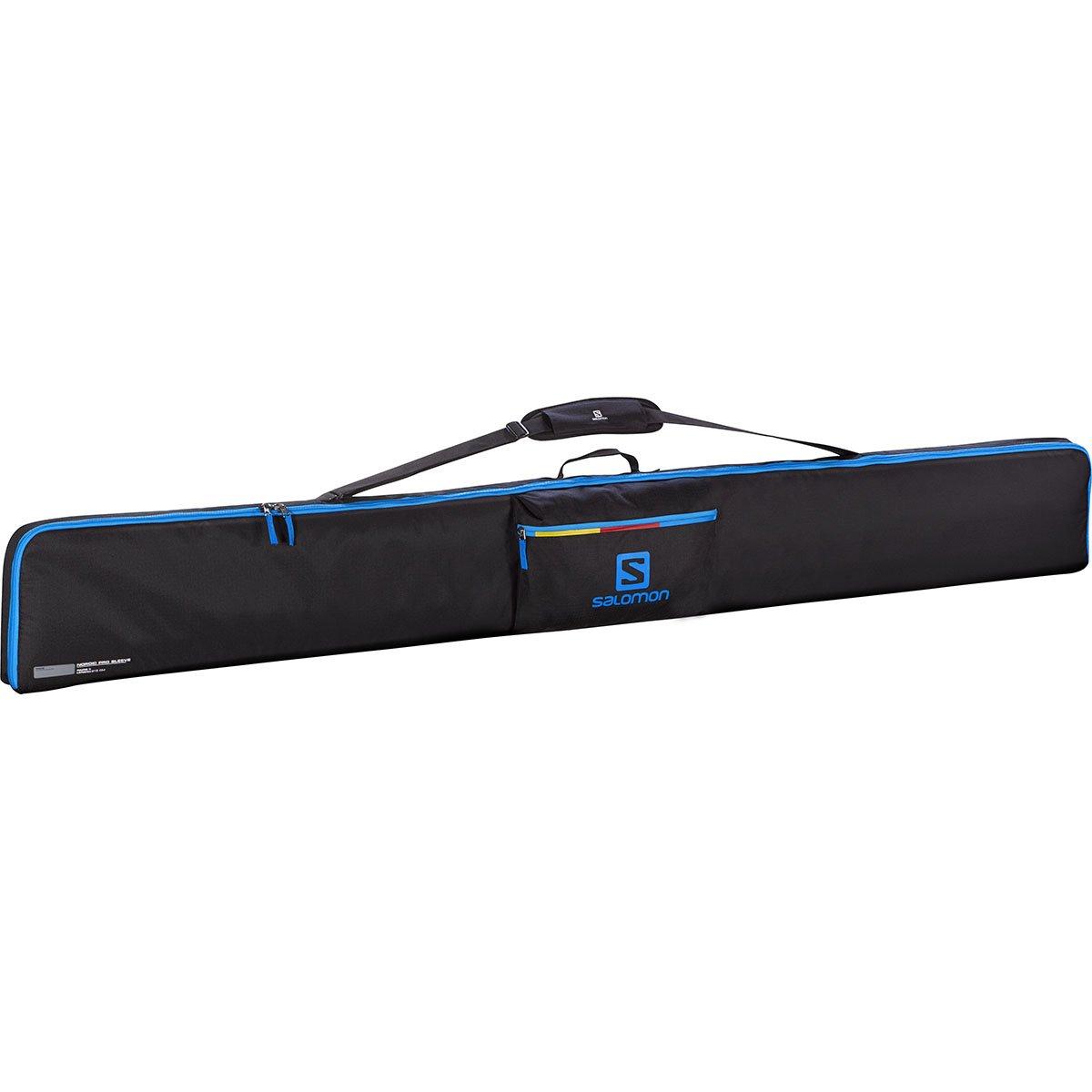 Salomon Nordic 3 Pairs 215 Pro Sleeve Funda para ski, Unisex Adulto, Negro (Black/Process Blue/Corona Yellow), Talla Ú nica Talla Única L38298200