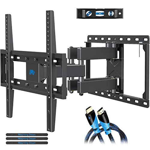 Mounting Dream TV Wall Mounts TV Bracket for Most 32-55 Inch Flat Screen TV/ Mount Bracket, Full Motion TV Wall Mount with Swivel Articulating Dual Arms, Max VESA 400x400mm, 99 LBS Loading MD2380 (47 Lcd Phillips Tv)
